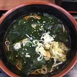 そば うどん 萩 - 十三浜わかめ蕎麦(460)