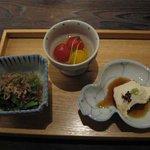 Ennagoya - 前菜(おばんざい三種)