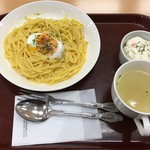 クリーミードーナツ - 料理写真:パスタ、サラダ、ドリンクで500円