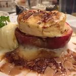 クレープリー・アルション - 「紅玉林檎のオーブン焼きグラタン仕立て、塩キャラメルのシーブスト添え」
