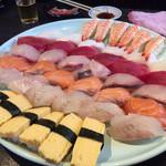 魚河岸料理 うおぎん - 2016.11.23  特選ネタの寿司七種盛り