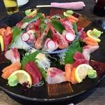 魚河岸料理 うおぎん - 2016.11.23  お造り五種盛り