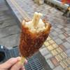 ミート&デリカささき - 料理写真:あるくソースカツ丼 サバエドッグ 断面写真