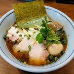 59359468 - 麺家 Shumen Doushi (極醤油SOBA 950円)