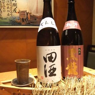 日本全国の焼酎や日本酒を厳選し仕入れております。