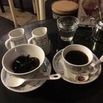 ストーン  - コーヒーゼリー + ホットコーヒー