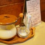 喫茶 マロン - 卓上の雰囲気