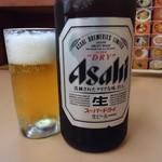 銀龍 - 昼からビール。健康なうちに飲んでおこう。