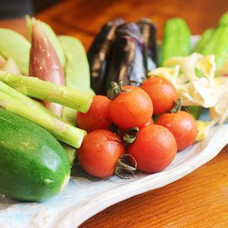厳選されたお野菜、鮮魚