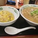 日高屋 - 料理写真:肉そば半チャーハンセット790円