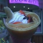 ブオン デ クレープ - イチゴバナナチョコ生クリクレープ