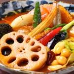 スープカレー ポニピリカ - 野菜がたっぷり入ったカレー