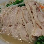 好味苑 - 好味苑 @本蓮沼 日替わりランチ Bセット 鶏肉麺にトッピングされる鶏肉独特の臭みが全く無い柔らかい食感の蒸し鶏