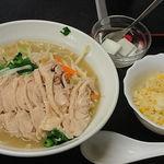好味苑 - 好味苑 @本蓮沼 日替わりランチ Bセット 鶏肉麺 税込500円
