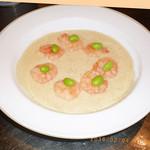 青山麺飯坊 - 小海老とくずし豆腐の塩味煮