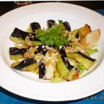 青山麺飯坊 - 揚げ茄子の香味ソース