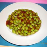 青山麺飯坊 - ムキ枝豆の醤油炒め