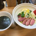 らーめん 桑嶋 - とろろ生姜の合鴨温つけ麺! ★★★★★