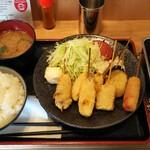 串かつ でんがな - 特製串かつ定食:ランチA定食(780円:税込み)