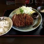 とんかつ・豚肉料理 こぶたや - ロースかつセット(1,400円+250円+消費税)