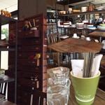 マカロニカフェ&ベーカリー - お店の内観、卓上にも陶器が☆。.:*・゜ お洒落な内観です。