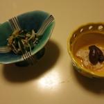 食彩なかしま - 右の小鉢は鰻の肝