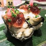 寿司 魚がし日本一 - 蒸し牡蠣軍艦