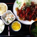 でんすけ食堂 - チキンカツ定食:750円
