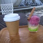 セタビカフェ - 料理写真:珈琲とベリーとバニラのアイス