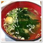 ホトリ - Aランチ エッグカツランチの味噌汁
