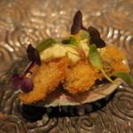 GINA - 鮑の酒蒸しのフライ、タルタルソース2