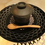 フレンチごはん 西麻布 GINA - 天使海老の茶碗蒸し オマール海老のビスク トリュフがけ1