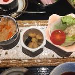 59419326 - 大豆旨煮,切り干し大根,春巻き牛蒡サラダ