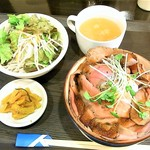 けむり屋 牛力 - けむり屋ビフ丼¥900(税込)