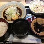 板前バル - さば味噌煮定食(720円税込)16.11月