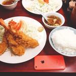 仙台や - エビフライ定食(950円)【平成28年11月28日撮影】