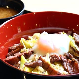 ♢平日限定商品♢牛タン丼(味噌汁付き)