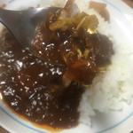 セブンイレブン - タモギダケソテーに牛肉がゴロゴロ入り美味。