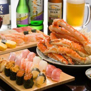 約60種類のお寿司が食べ放題