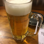 かぶら屋 - 生ビール(380円)