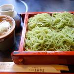 芝大門 更科布屋 - 【11月の変わりそば】青海苔切り蕎麦