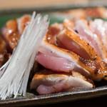 本家比内邸 - 2016.11 比内地鶏もも肉の燻製(1,680円)