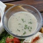 CITRA Hachioji - 京都産しいたけのスープは冷製で、しいたけの風味だけであっさりといただけます