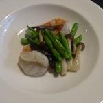 59441494 - 相方の主菜は海老と金針菜炒め