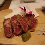 渋谷肉割烹バル 和牛男~COWBOY~ - A5和牛のレアかつ