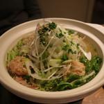 渋谷肉割烹バル 和牛男~COWBOY~ - 和豚もち豚とコラーゲンのミルフィーユ鍋