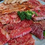 あさひや - 料理写真:上ロース、カルビ、バラ、ツラミ(2016.8月)