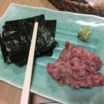 中華料理 揚子江 - 定番 マグロ中落ち手巻き