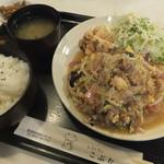 こぶた - 豚バラロースのゴマミソ定食 870円