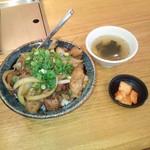 59458201 - まかない丼 スープ・漬物